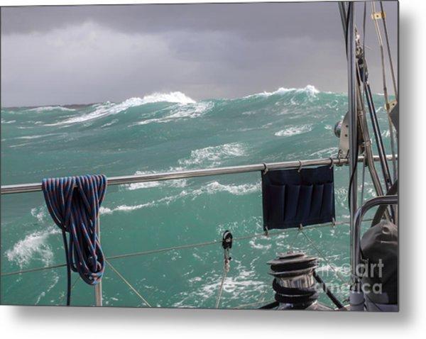 Storm On Tasman Sea Metal Print