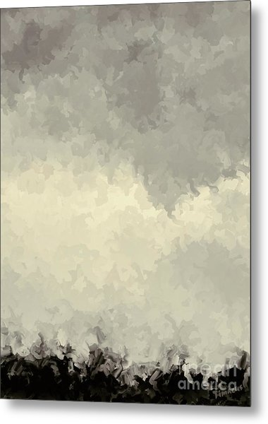 Storm Over A Cornfield Metal Print