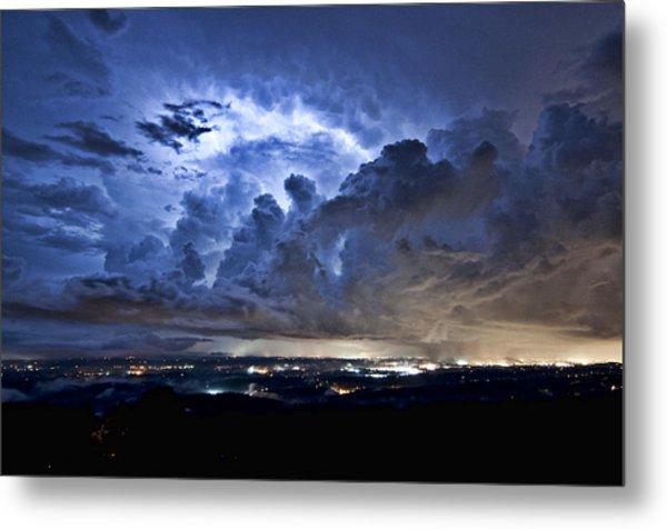 Storm Over Chattanooga Metal Print