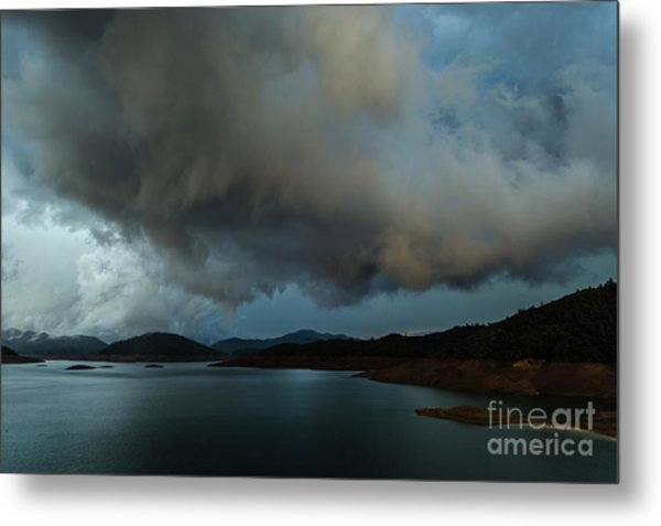 Storm Over Lake Shasta Metal Print