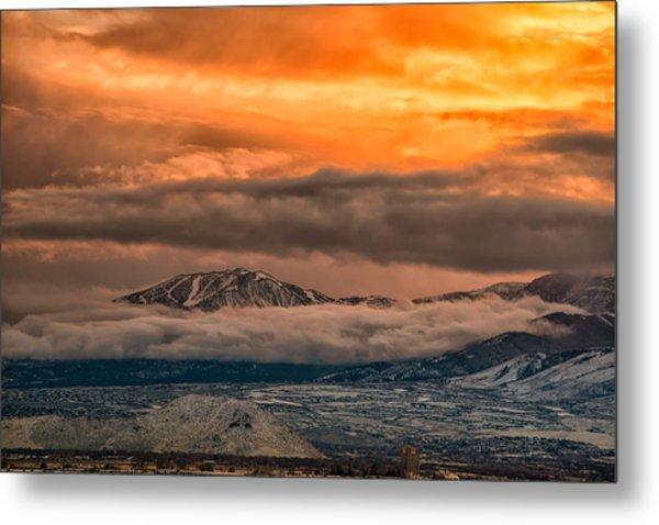 Storm Over Mt Rose Metal Print