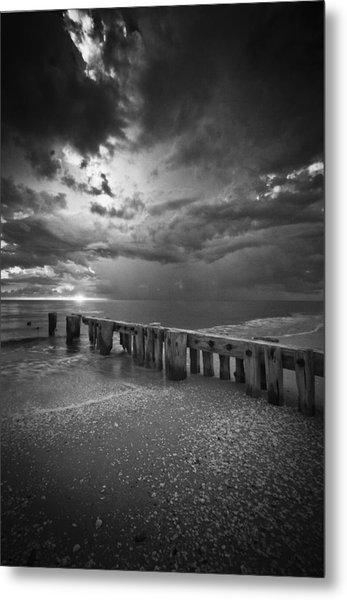 Storm Over Naples Florida Beach Metal Print