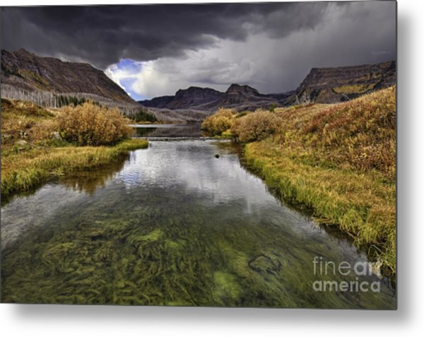 Storm Over Trappers Lake Metal Print