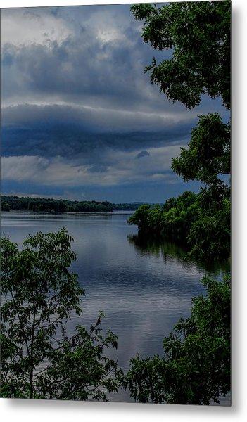 Storm Rolling Over Lake Wausau Metal Print