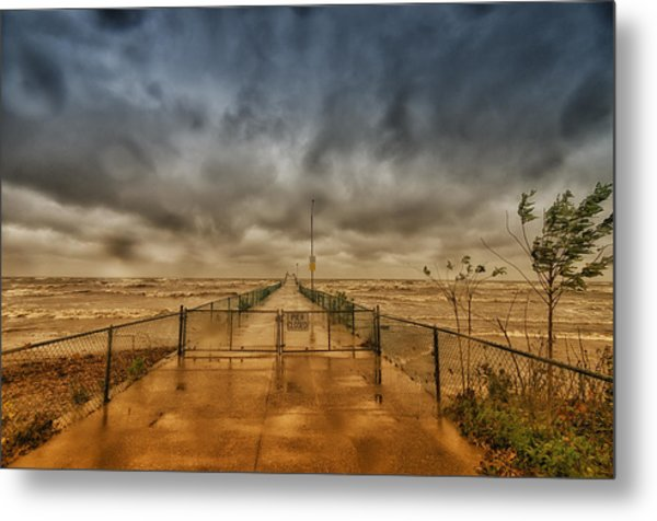 Storm Sandy At Bradstreet Landing Metal Print