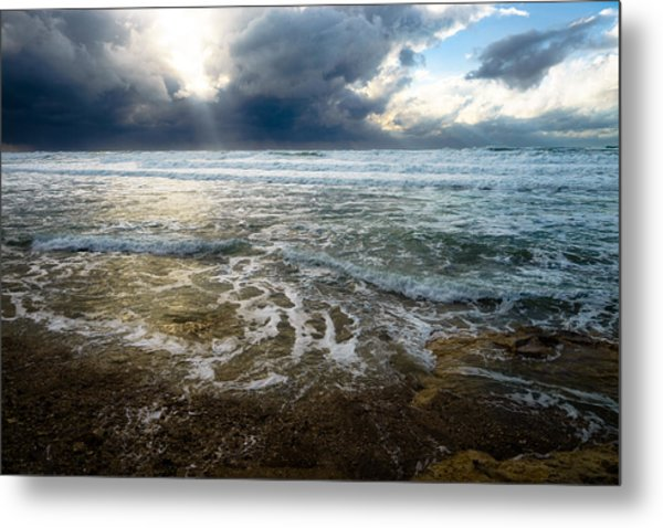 Storm Warning Metal Print