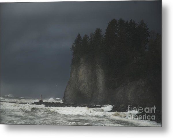 Storm At Lapush Washington State Metal Print