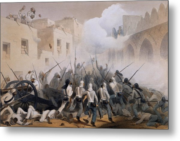 Storming Of Delhi 1857, From The Metal Print