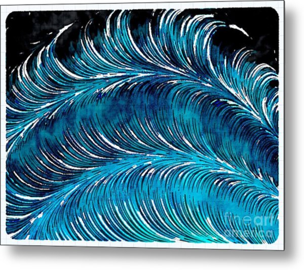 Storms At Sea Metal Print