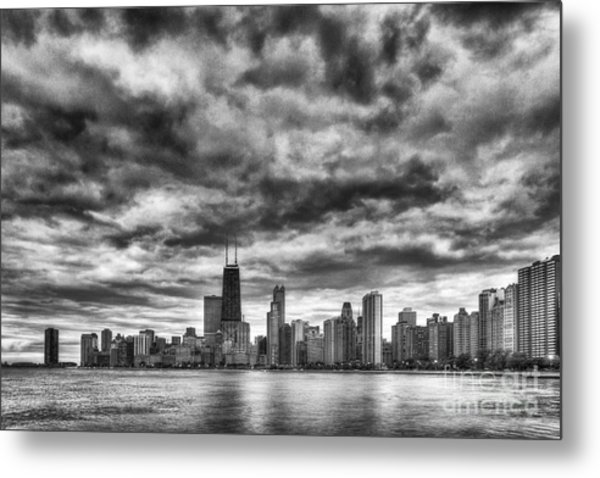 Storms Over Chicago Metal Print
