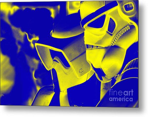 Stormtrooper And Biker Scout Metal Print by Micah May