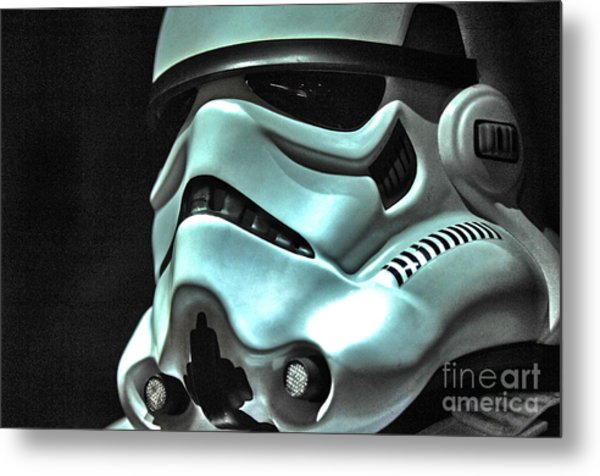 Stormtrooper Helmet 11 Metal Print by Micah May