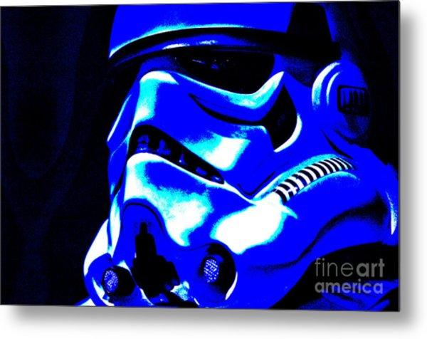 Stormtrooper Helmet 22 Metal Print by Micah May
