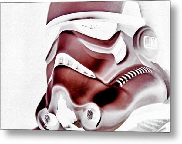 Stormtrooper Helmet 23 Metal Print by Micah May