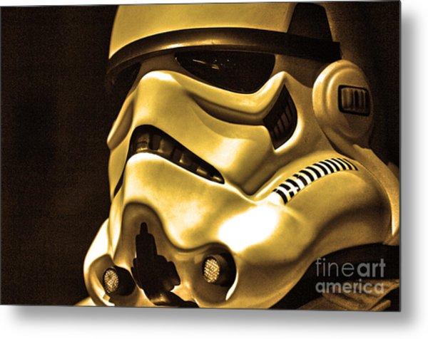 Stormtrooper Helmet 24 Metal Print by Micah May