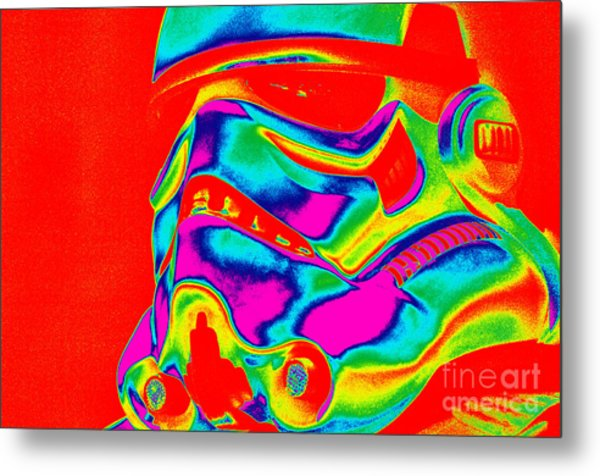 Stormtrooper Helmet 28 Metal Print by Micah May
