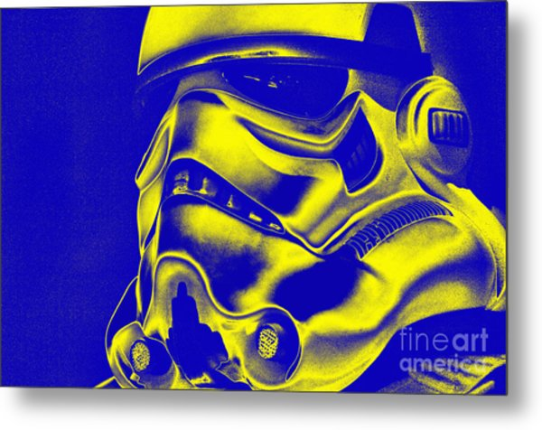 Stormtrooper Helmet 29 Metal Print by Micah May