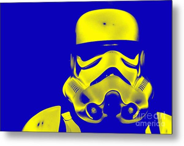 Stormtrooper Helmet 33 Metal Print by Micah May
