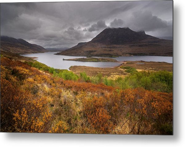 Stormy Afternoon In Scotland Metal Print