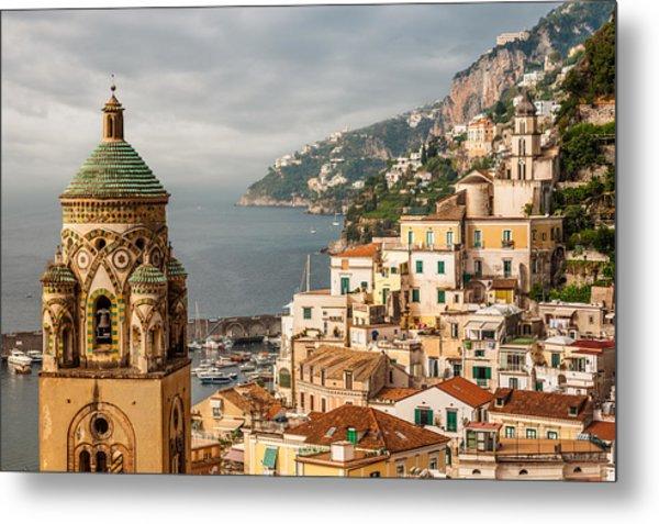 Stormy Amalfi Metal Print