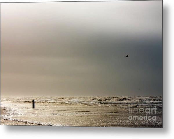 Stormy Beach Metal Print