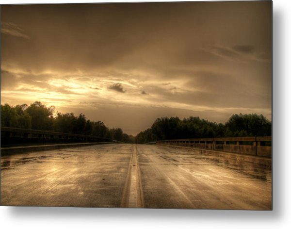 Stormy Bridge Metal Print by David Paul Murray