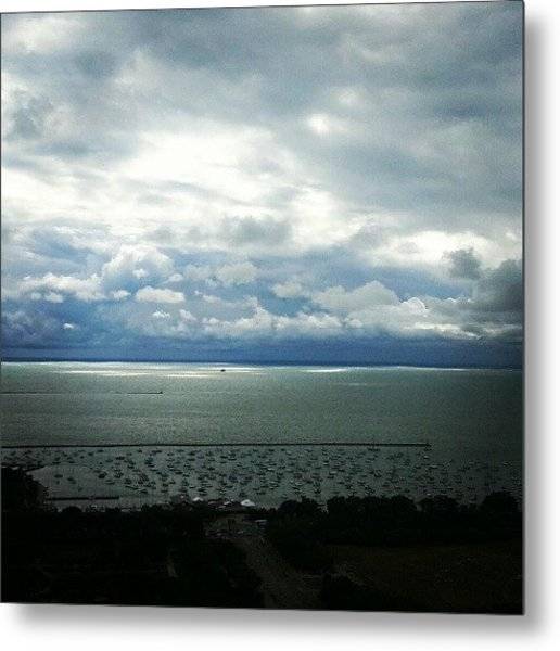 Stormy Clouds Making Way For Sunshine Metal Print