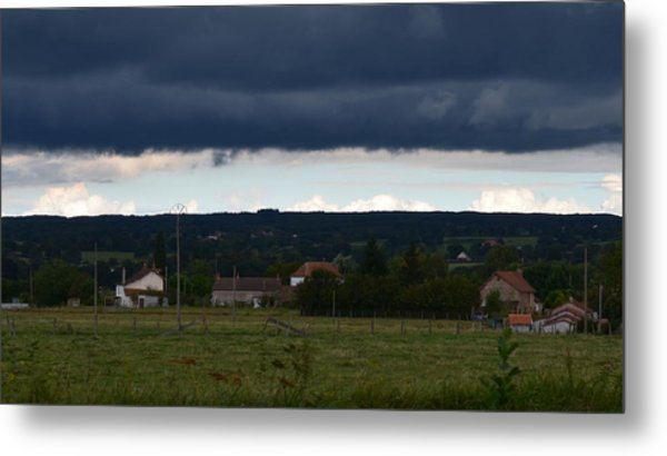 Stormy Countryside Metal Print