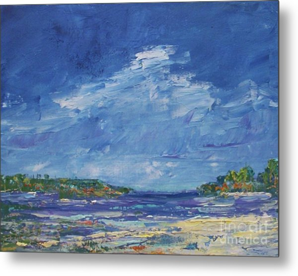 Stormy Day At Picnic Island Metal Print