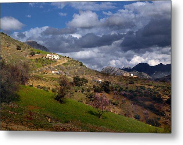 Stormy Mediterranean Landscape Metal Print