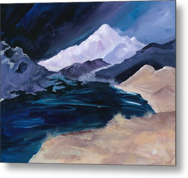 Stormy Mountain Metal Print