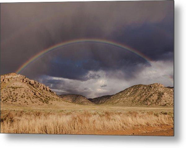 Stormy Rainbow Metal Print