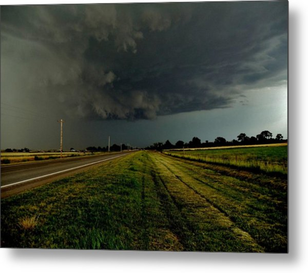 Stormy Road Ahead Metal Print