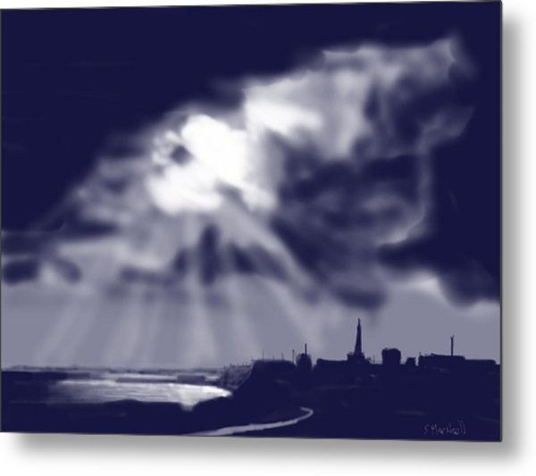 Stormy Sky Over Bridlington Metal Print by Glenn Marshall