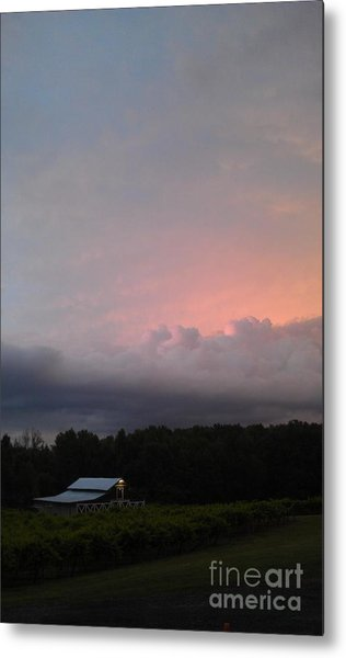 Stormy Sunset Metal Print by Gayle Melges