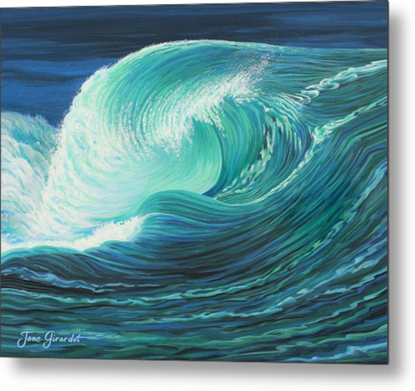 Stormy Wave Metal Print