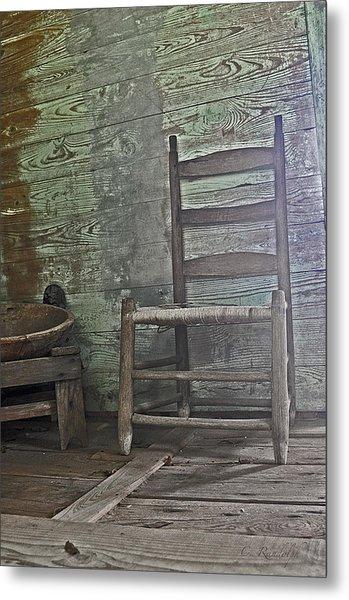 Story Chair Metal Print by Cheri Randolph