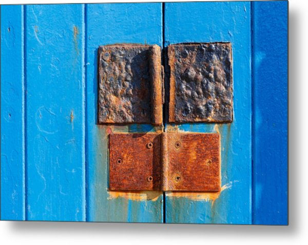 Story In Rust Metal Print