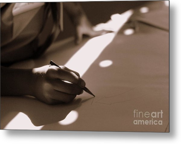 Story Of Light And Shadows Metal Print by Vishakha Bhagat