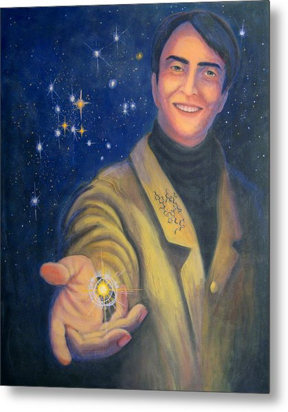Storyteller Of Stars - Artwork For The Science Tarot Metal Print