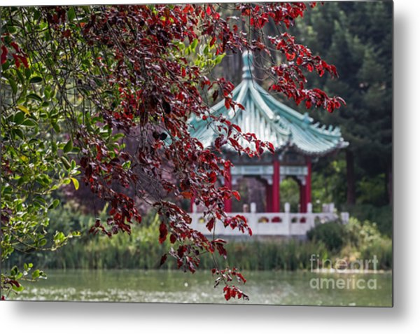 Metal Print featuring the photograph Stow Lake Pavilion by Kate Brown