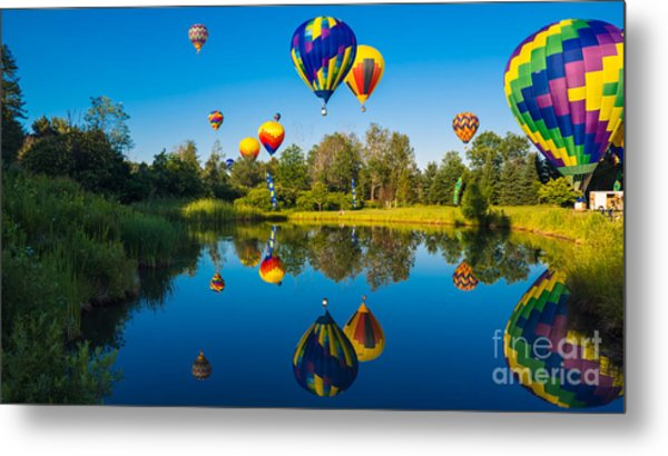 Stoweflake Hot Air Balloon Festival Metal Print