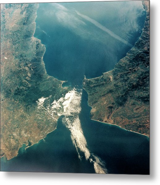 Strait Of Gibraltar Metal Print by Nasa/science Photo Library