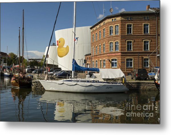 Stralsund Harbour Germany. Metal Print by David Davies