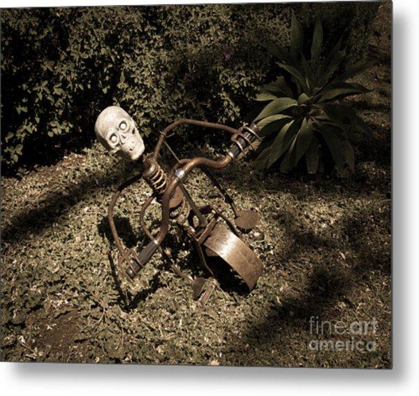 Strange Skull Metal Print