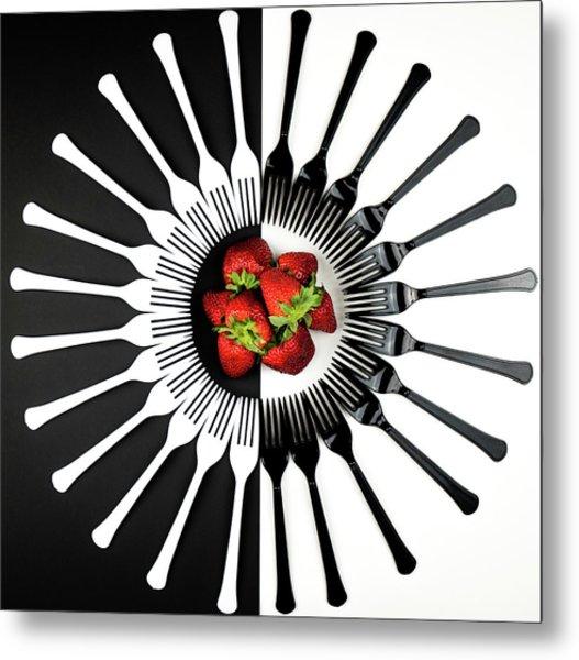Strawberry Designs Metal Print