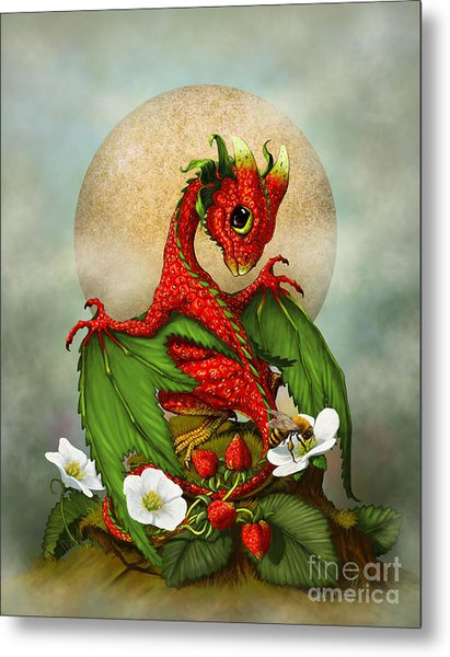 Strawberry Dragon Metal Print