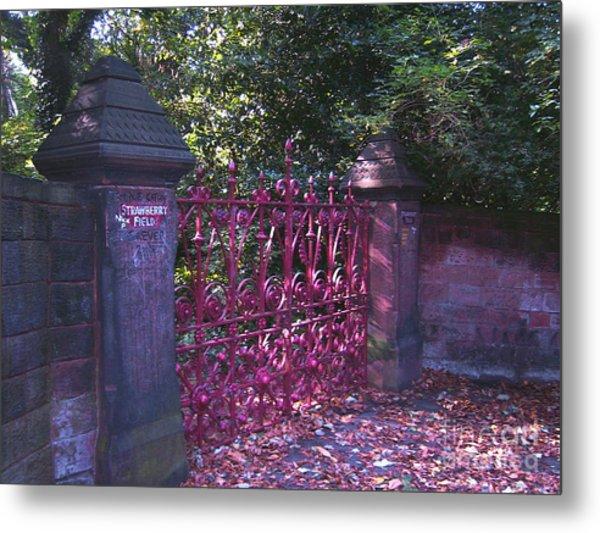 Strawberry Field Gates Metal Print