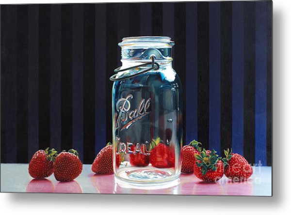 Strawberry Jam Metal Print by Arlene Steinberg