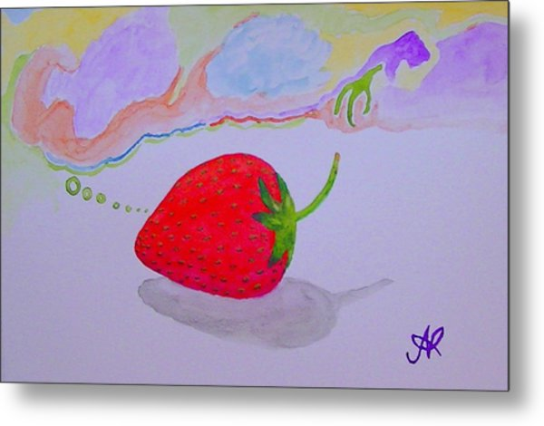Strawberry Thoughts Metal Print